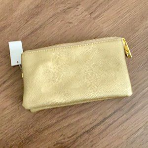 Small Gold Wallet Pouch Clutch Wristlet